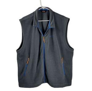 Orvis Trout Bum 2XL grey grid fleece vest